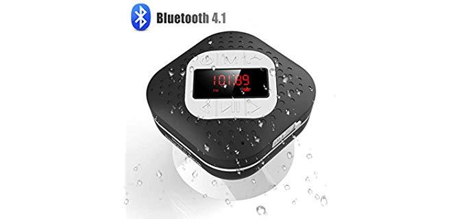 AGPTEK Bluetooth - LED Screen Shower Radio