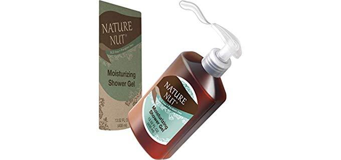 Nature Nut Hypoallergenic - Shower Gel Wash for Sensitive Dry Skin for Men and Women