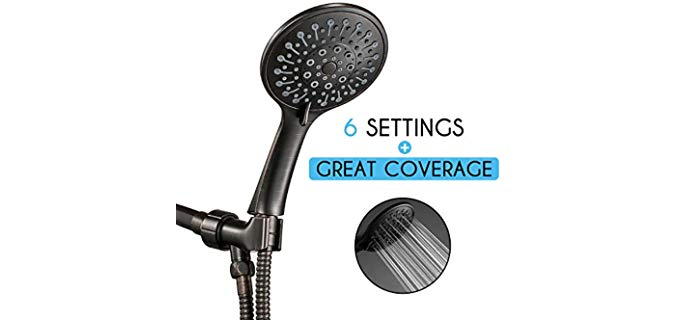 ANZA Adjustable - Shower Head for Low Water Pressure
