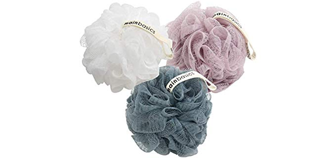 MainBasics Pouf - Shower Loofah and Body Scrubber