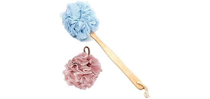 Bealuxur Handled Loofah - Shower Loofah