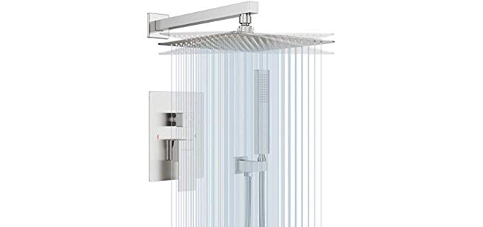 EMBATHER Brushed Nickel - High Pressure Shower Head