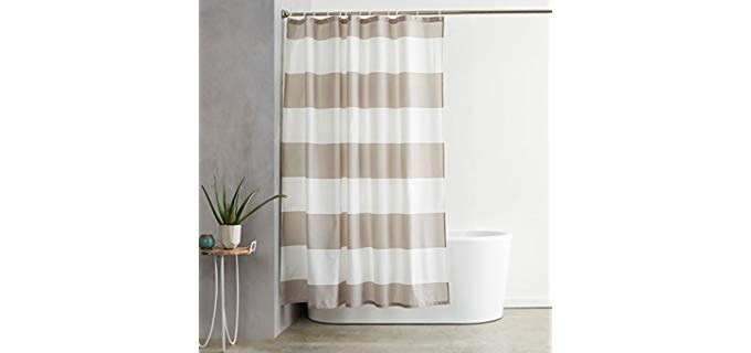 AmazonBasics Hooked - Shower Curtains for Small Bathrooms