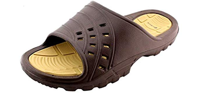 Kaiback Slides - Simple Slide Sport Shower Sandal