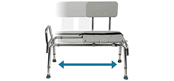 DuroMed Transfer Bench - Shower Chair for Elderly in WheelChairs