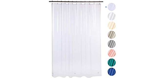 AmazerBath Solid - Vinyl Shower Curtain