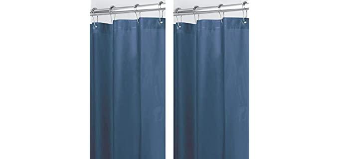 mDesign Magnetic - Shower Curtain Liner