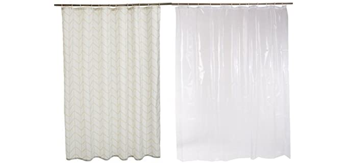 AmazonBasics Anti Mold - Shower Curtain with Liner