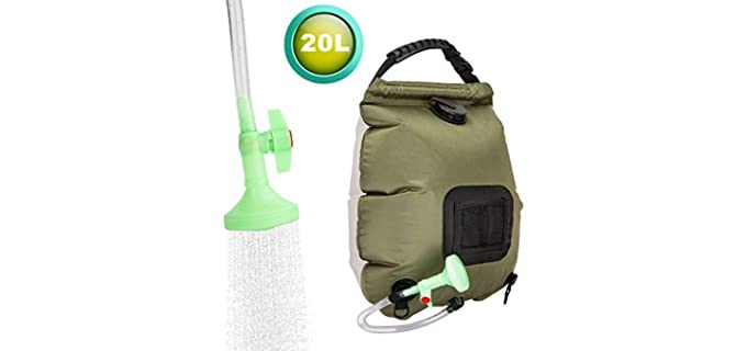 FeChiX Portable - Solar Camping Shower Bag