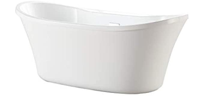 Ove Decors  Adjustable - Oval Acrylic Bathtub