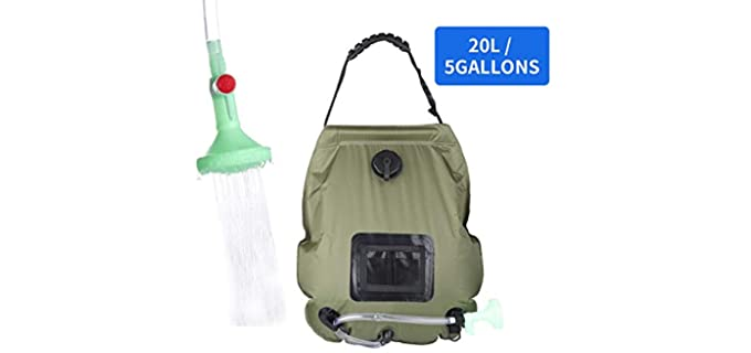 PGYFIS 5 Gallon - Solar Shower Bag