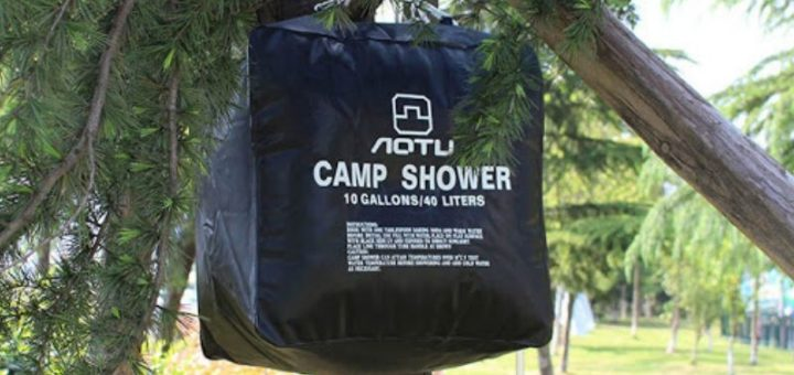 Solar shower bag (for camping)