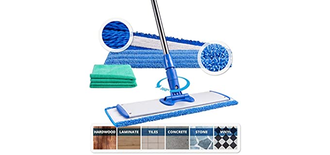 Microfiber Wholesale Steel - Adjustable Mop For Tile Floors