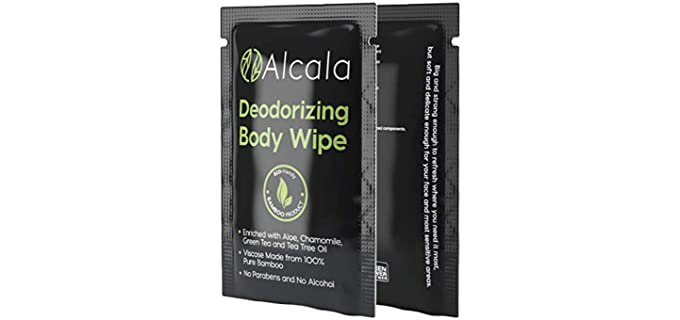 Alcala Bamboo - Protective Shower Wipes for Adults