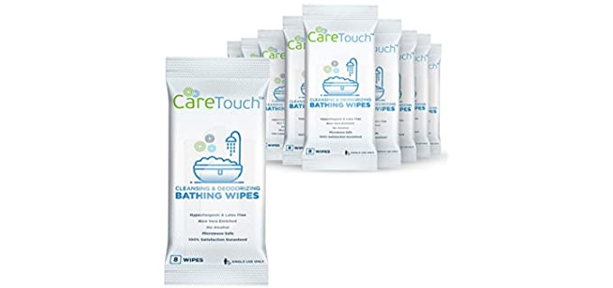Care Touch Resealable - Shower Wipes for Adults