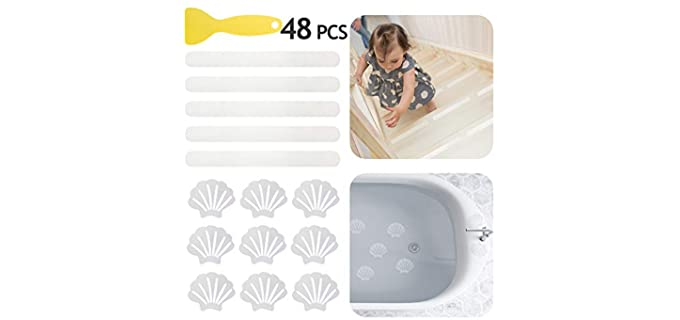 Daily Treasures Durable - Safety Strips for Bathroom Floor