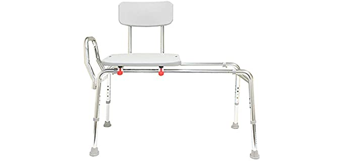 Eagle Health Supplies Long-Base - Sturdy Shower Transfer Bench