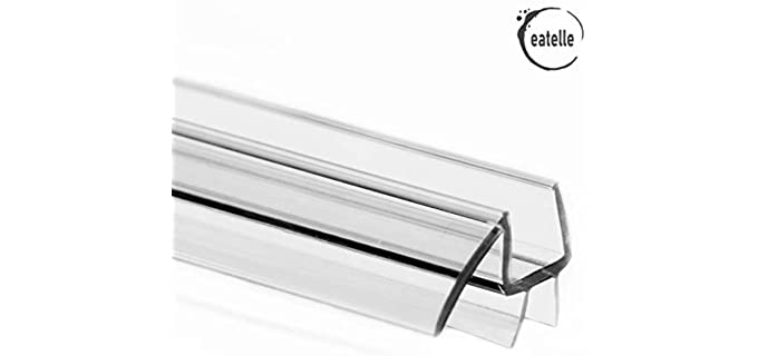 Eatelle Polycarbonate - Clear Glass Shower Door Bottom Seal Strip