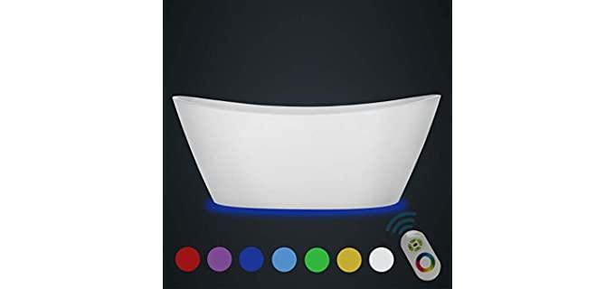Empava LED - Large Acrylic Bathtub