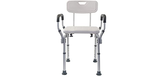 Essential Medical Padded - Adjustable Shower Chair Bench