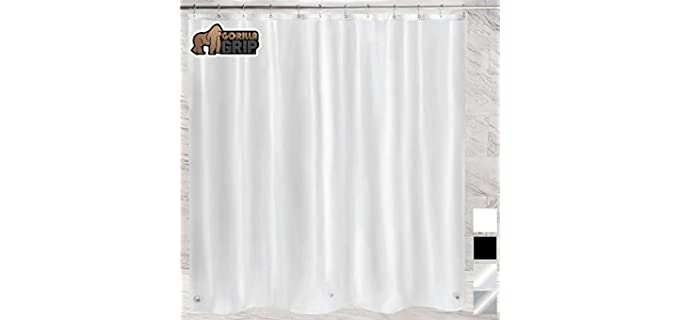 Gorilla Grip Frosted - Plastic Shower Curtain Liner