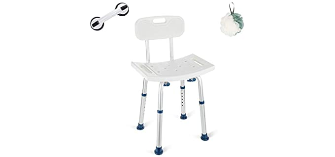 GreenChief Heavy-Duty - Secure Adjustable Shower Chair