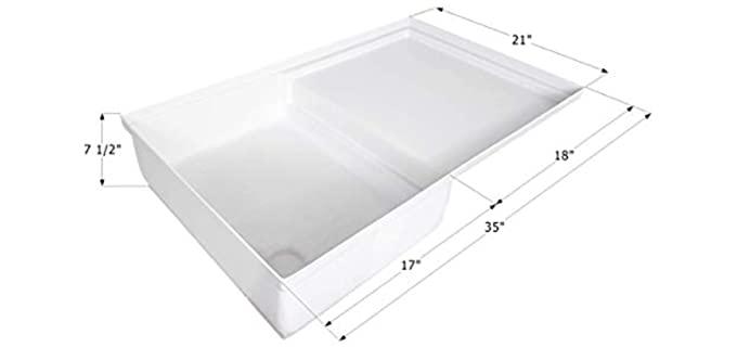 ICON Polar White - Combo Shower Pan
