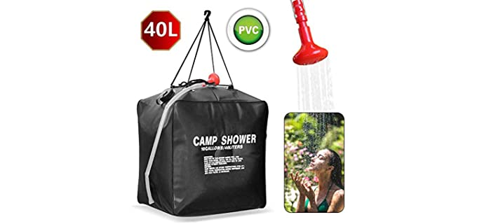 KIPIDA 40 Liters - Solar Heating Shower Bag