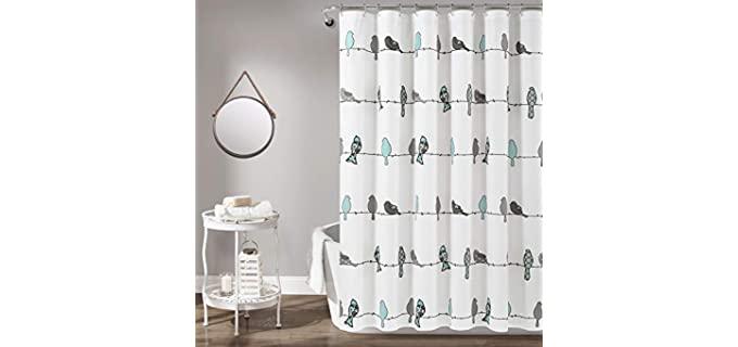 Lush Decor Bird - Vibrant Shower Curtain