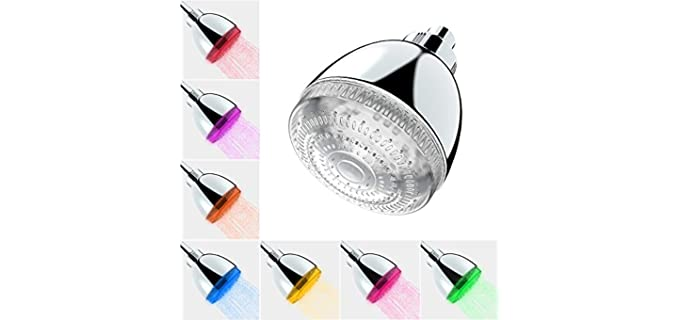 Milky House Flashing - Electromagnetic Led Shower Head