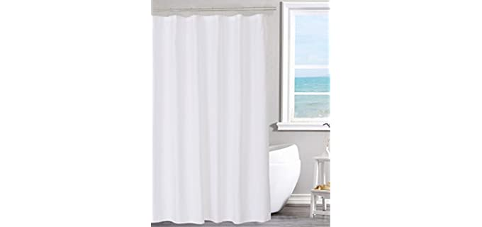 N&Y HOME Fabric - White Shower Curtain Liner