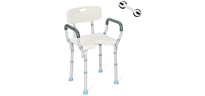 OasisSpace Cut-Out - Lifting Shower Chair