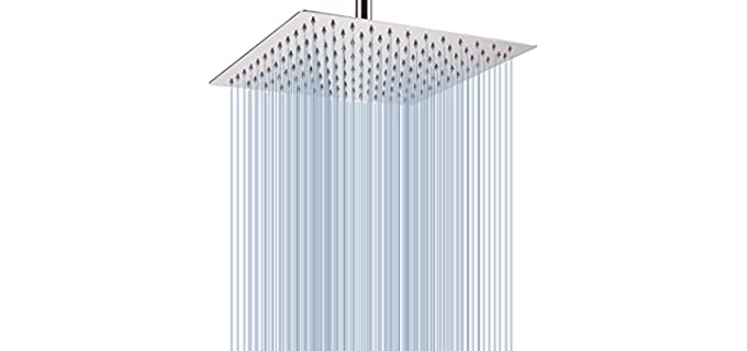 Voolan 12-Inches - Large Rainfall Showerhead
