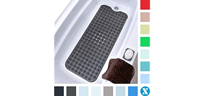SlipX Solutions Black - No-Slip Shower Mat