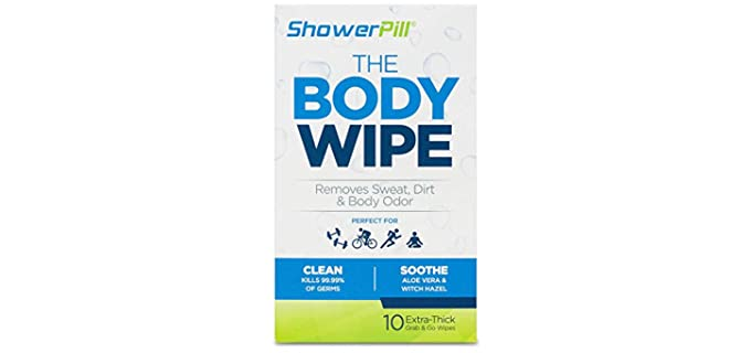 ShowerPill Cleansing - Shower Wipes for Adults