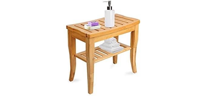 Widousy Bamboo - Wood Shower Bench