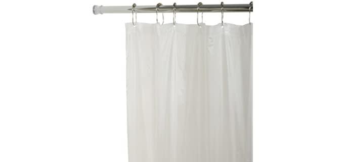 Zenna Geometric - Frosty Shower Curtain Liner