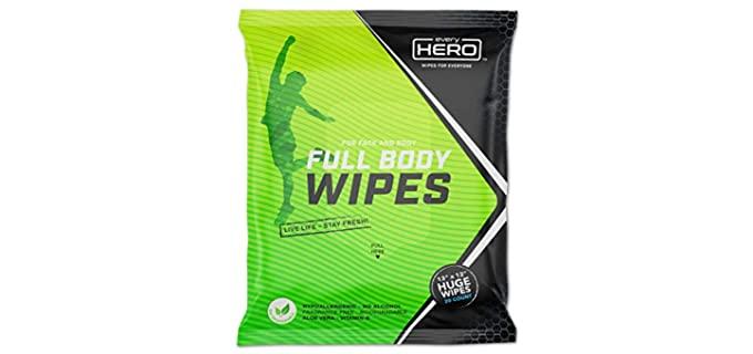 everyHERO Extra Large - Adult Shower Wipes