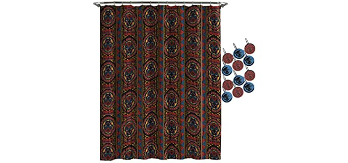 Jay Frano Tribal - Black Panther Shower Curtain