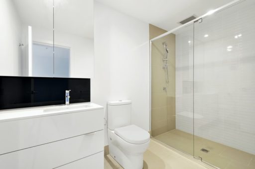 minimalist shower