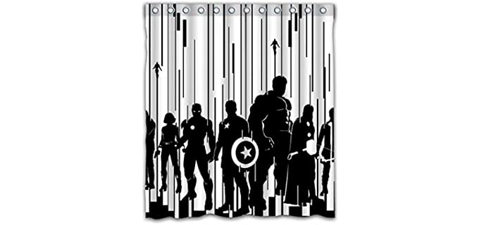 Sonaby Monochrome - Polyester Marvel Shower Curtain