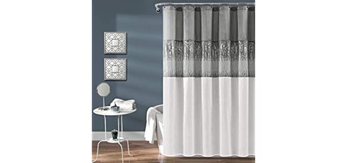 Lush Decor Night Sky - Shimmery Hookless Shower Curtain