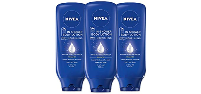 NIVEA Non-Sticky - After Shower Non-Greasy Lotion For Dry Skin