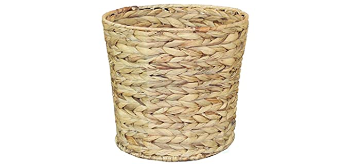 Vintiquewise Natural - Hyacinth Bathroom Waste Basket