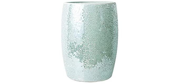 Whole Housewares Decorative - Glass Bathroom Waste Basket