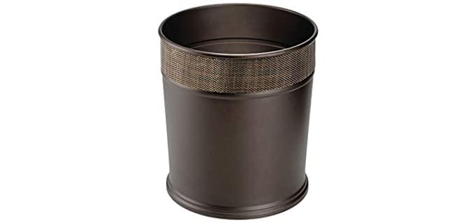 mDesign Small - Round Bathroom Waste Basket