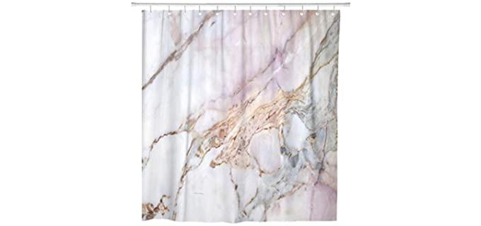 ArtSocket Pink - Granite Marble Shower Curtain