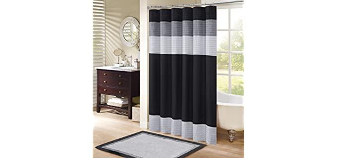 Comfort Spaces Elegant - Microfiber Shower Curtain