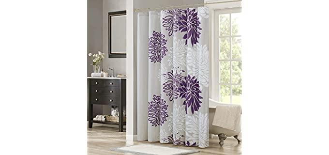 Comfort Spaces Floral - Microfiber Shower Curtain