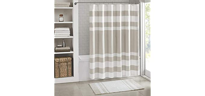 Madison Park Modern - Microfiber Waffle Weave Shower Curtain